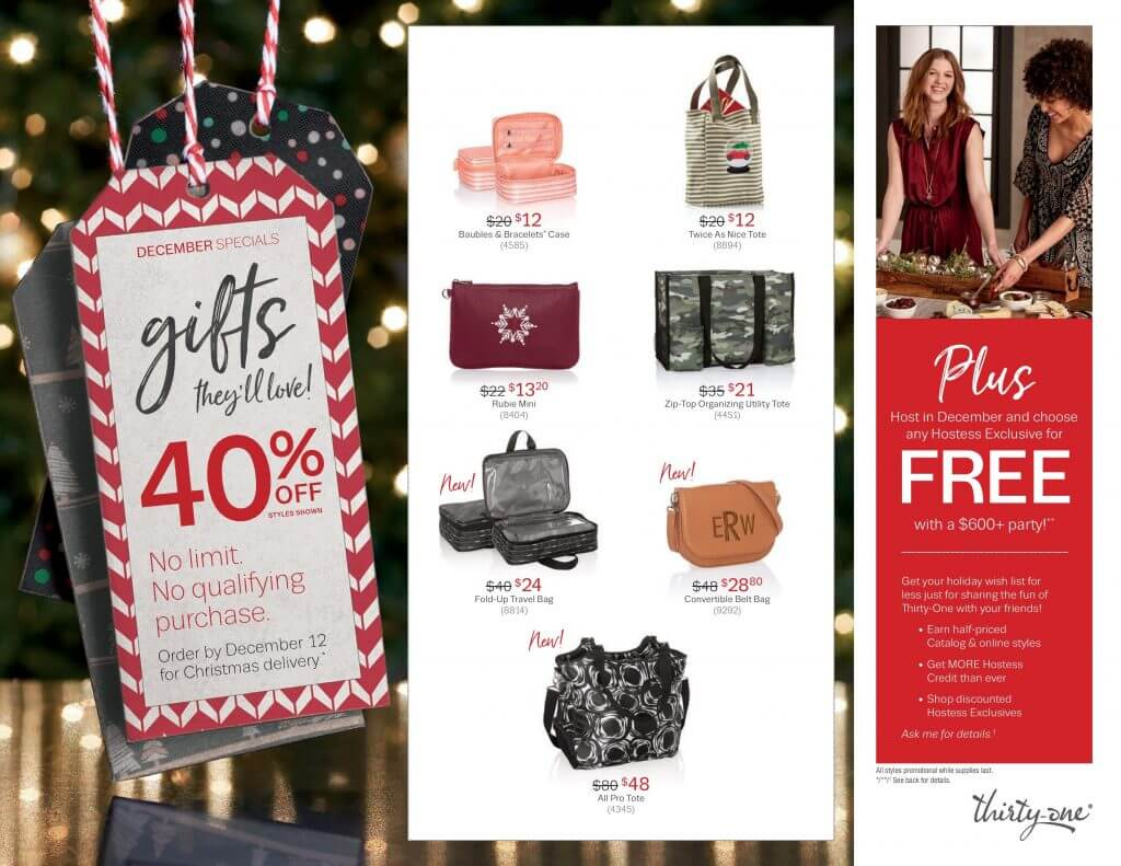 december customer specials thirty-one gifts lisa herttua