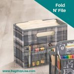 Fold N File with folders and accessories