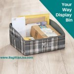 Your Way Display Bin as mail holder