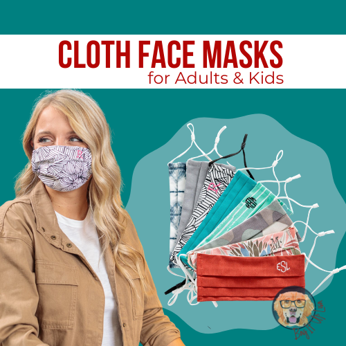 personalizable face masks by thirty one gifts