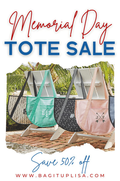Memorial Day Tote Sale featuring Round Utility TOtes