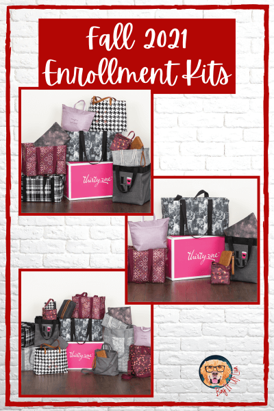 Thirty-One Fall Enrollment Kits with contents.